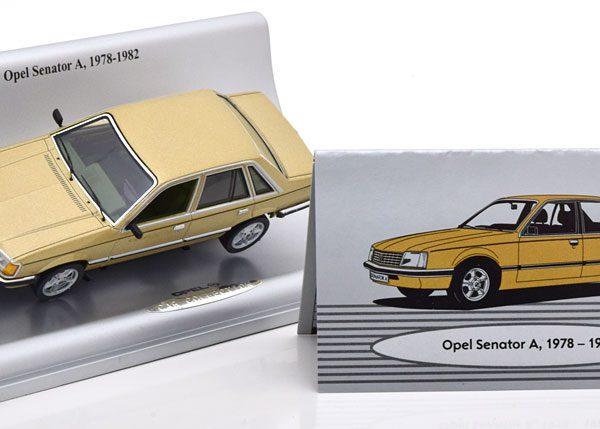 Opel Senator A 1978-1982 Goud Metallic 1-43 Schuco ( Dealer )