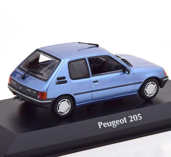 Peugeot 205 1990 Blauw Metallic 1-43 Maxichamps