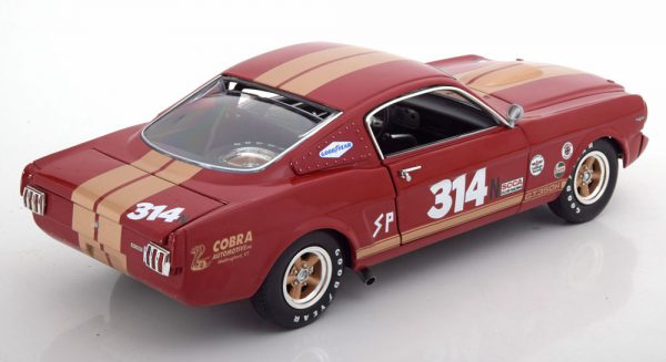 Shelby GT350H Rent A Racer No.314 1966 Rood / Goud 1-18 GMP/ACME Limited 606 Pieces