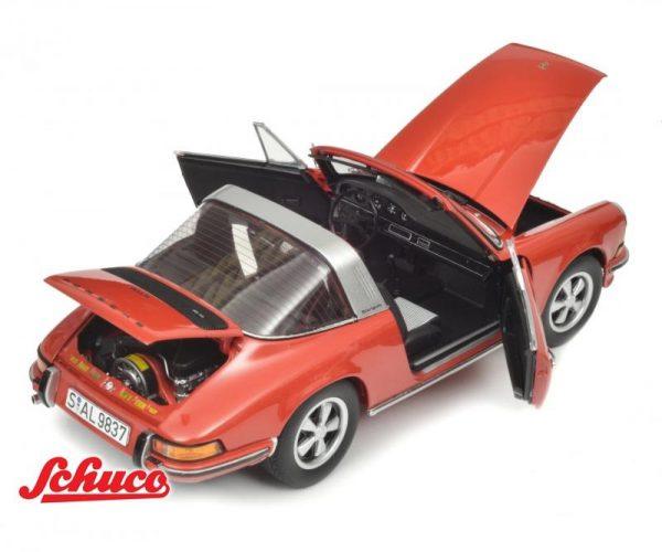 Porsche 911 S Targa 1973 Rood 1-18 Schuco Limited 911 Pieces