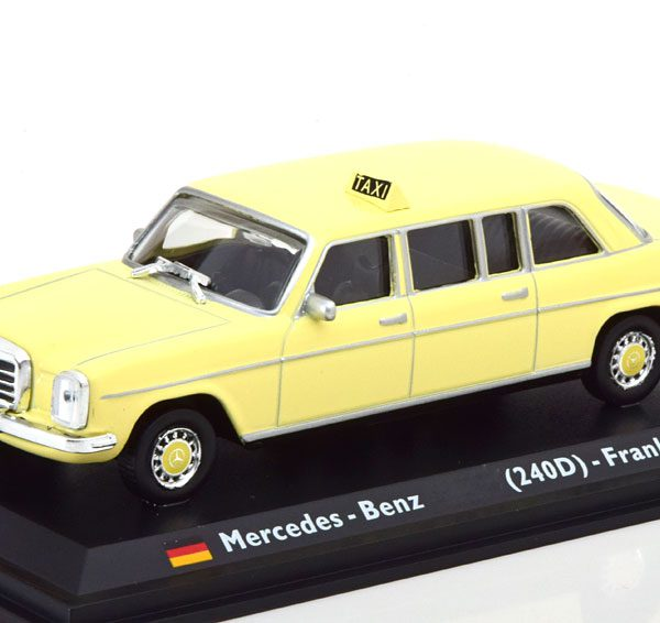 Mercedes-Benz 240D ( W123 ) Taxi Frankfurt 1977 Beige 1-43 Altaya Taxi Collection