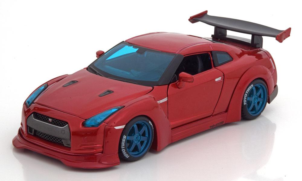 "Nissan GT-R ""Tokyo Mod"" 2009 Rood Metallic 1-24 Maisto Design"