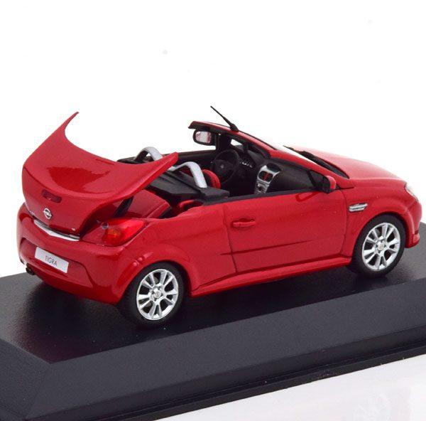 Opel Tigra Twin Top Rood 1-43 Minichamps ( Dealer )