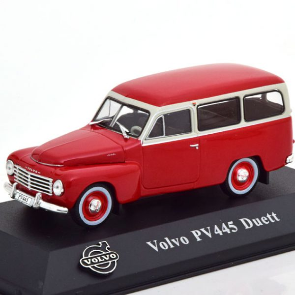 Volvo PV445 Duett 1953 Rood / Wit 1-43 Atlas Volvo Collection