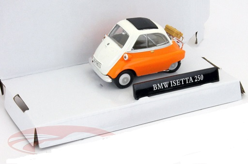 BMW Isetta 250 Oranje / Wit 1:43 Cararama