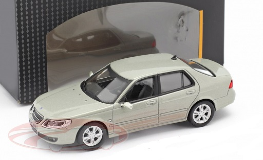 Saab 9.5 Aero Limousine Groen / Grijs Metallic 1:43 Cararama