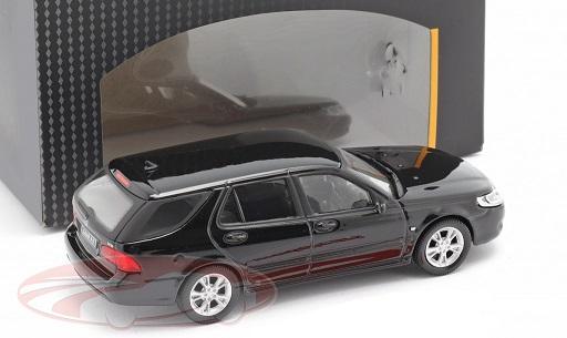 Saab 9.5 Combi 2004 Zwart 1:43 Cararama