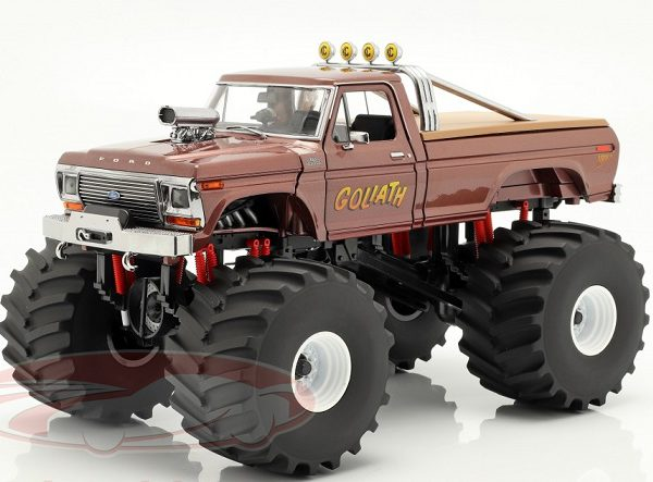 """Ford F-250 Monster Truck 1979 Brown """"Goliath"""" Bruin 1-18 Greenlight Collectibles"""