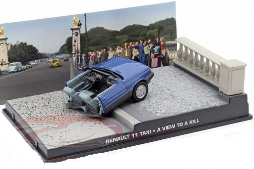 "Renault 11 Taxi James Bond ""A View To A Kill "" ( Half Car zonder Figuren ) Blauw 1-43 Altaya James Bond 007 Collection"
