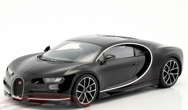 Bugatti Chiron 2016 Zwart 1:18 Kyosho