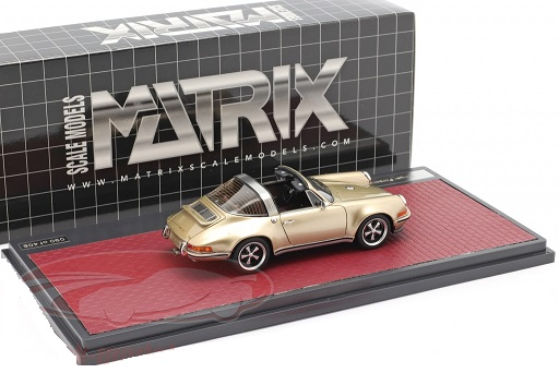 "Porsche 911 Targa ""Singer"" Goud Metallic 1:43 Matrix Scale Models Limited Edition"