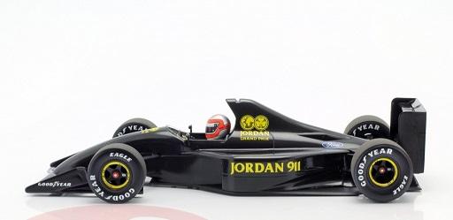 Jordan Ford 911 F1 Testing Silverstone 28th November 1990 J.Watson Carbon 1-18 Minichamps Limited 150 Pieces