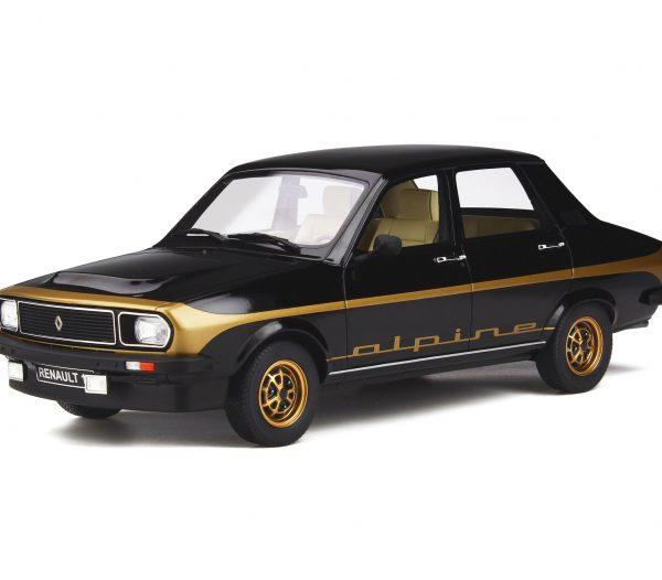 Renault 12 Alpine 1978 Zwart / Goud 1-18 Ottomobile Limited 1500 Pieces