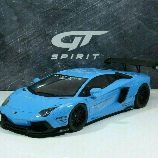 "Lamborghini Aventador ""LB Works"" 2017 Blauw 1-12 GT Spirit Limited 199 Pieces"