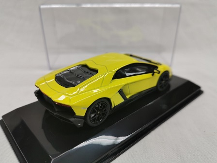 Lamborghini Aventador LP 720-4 2013 ( 50th Anniversary ) Geel 1-43 Altaya Supercars Collection