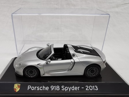 Porsche 918 Spyder 2013 Grijs 1-43 Altaya Super Cars Collection