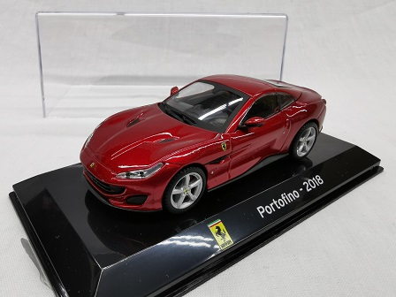 Ferrari Portofino 2018 Rood Metallic 1-43 Altaya Super Cars Collection