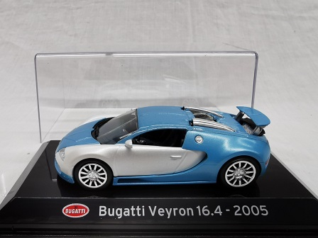 Bugatti Veyron 16.4 2005 Blauw / Zilver 1-43 Altaya Super Cars Collection