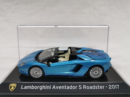 Lamborghini Aventador S Roadster 2017 Blauw Metallic 1-43 Altaya Super Cars Collection