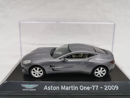 Aston Martin One-77 2009 Grijs Metallic 1-43 Altaya Super Cars Collction