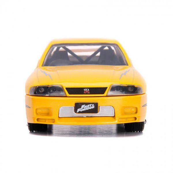 Nissan Skyline GT-R ( BCNR33 ) Leon's Fast & Furious Geel 1-32 Jada Toys