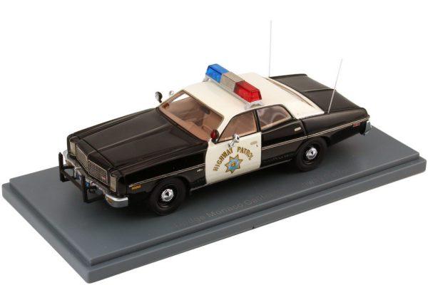 Dodge Monaco 1978 California Highway Police Zwart/Wit 1-43 Neo Scale Models