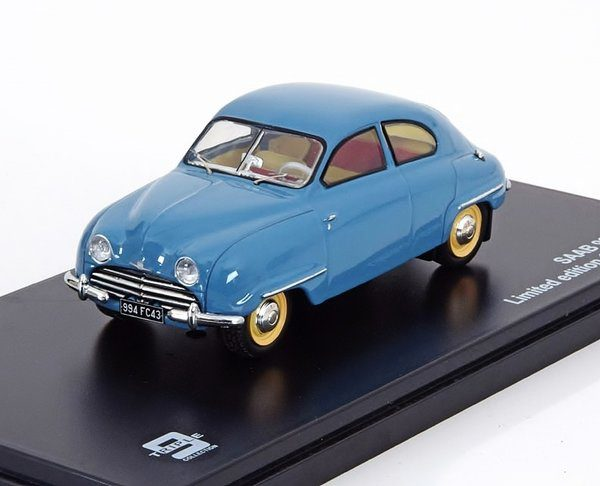Saab 92B 1954 Blauw 1-43 Triple 9 Collection Limited 506 Pieces