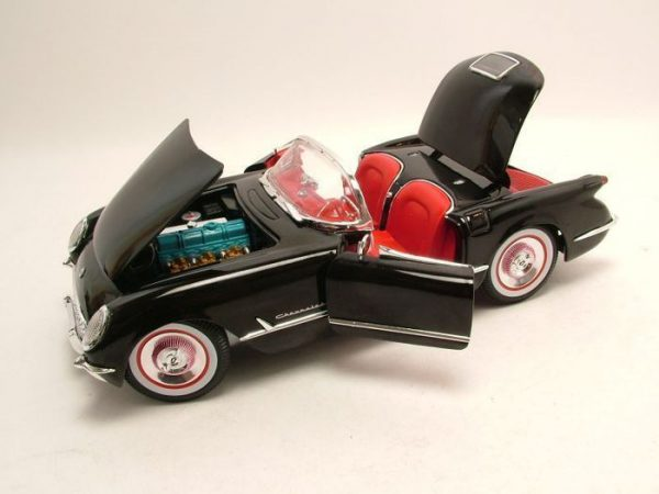 Chevrolet Corvette Roadster 1954 Zwart 1-18 Ertl Autoworld