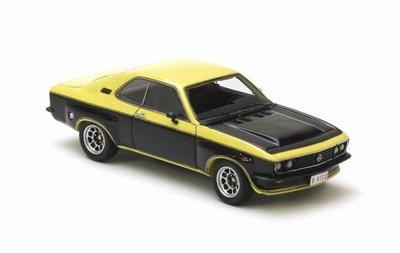 Opel Manta A TE2800 1975 Zwart/Geel 1-43 Neo Scale Models
