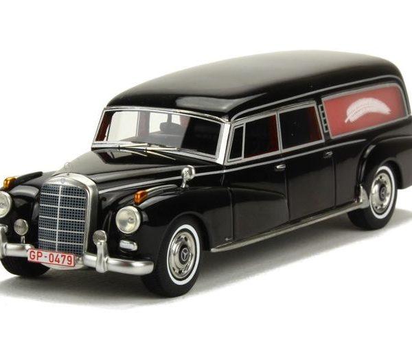 "Mercedes-Benz 300D (W189) Pollmann 1956 ""Hearse"" Zwart 1-43 BOS Models Limited"