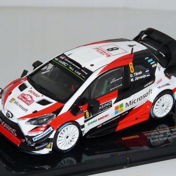 Toyota Yaris WRC #8 2nd Rallye Monte Carlo 2018 O.Tarnak / M.Jarveoja 1-43 Ixo Models