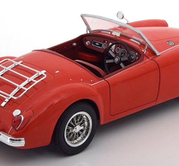 MG A MKI A1500 Convertible open 1957 Rood 1-18 Triple 9 Collection