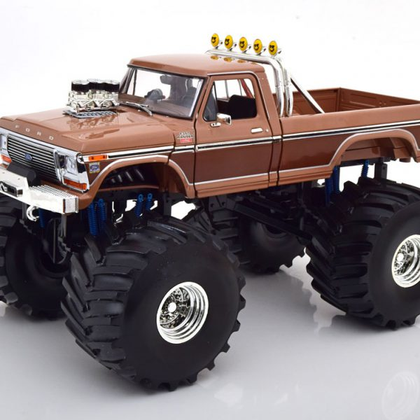"""Ford F-350 Monster Truck """"BFT"""" with 66-inch Tires 1978 Bruin 1-18 Greenlight Collectibles"""