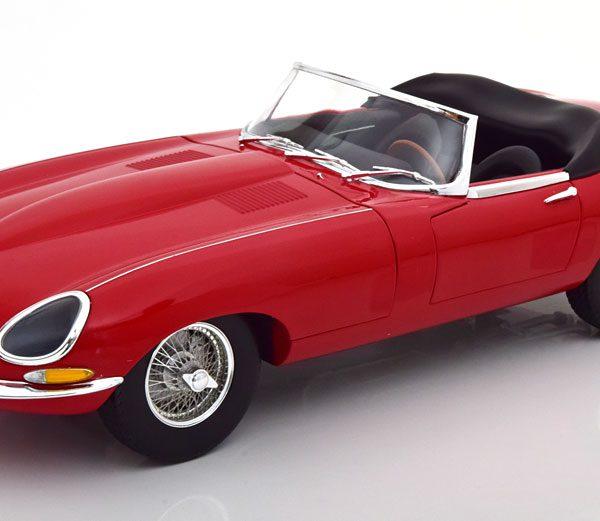 Jaguar E-Type Cabrio 1962 Rood 1-12 Norev
