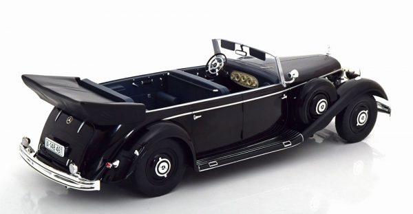 Mercedes-Benz 770 (W150) Cabriolet 1938-1943 Zwart 1-18 MCG Models ( Metaal )