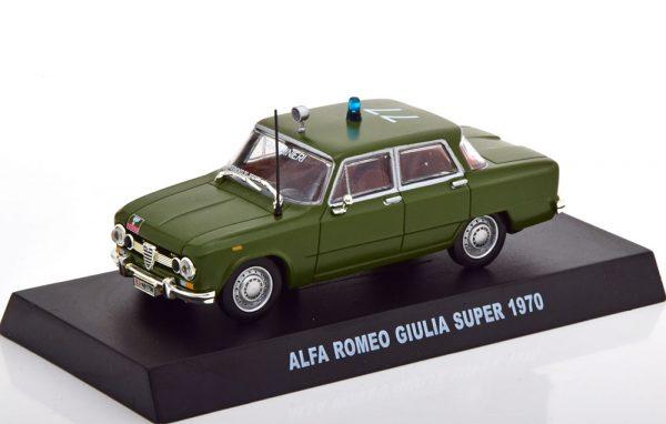 Alfa Romeo Giulia Super Carabinieri 1970 Groen 1-43 Altaya