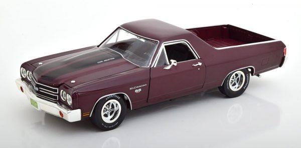 Chevrolet El Camino 1970 Donkerrood Metallic 1-18 Ertl Autoworld Limited 1002 Pieces