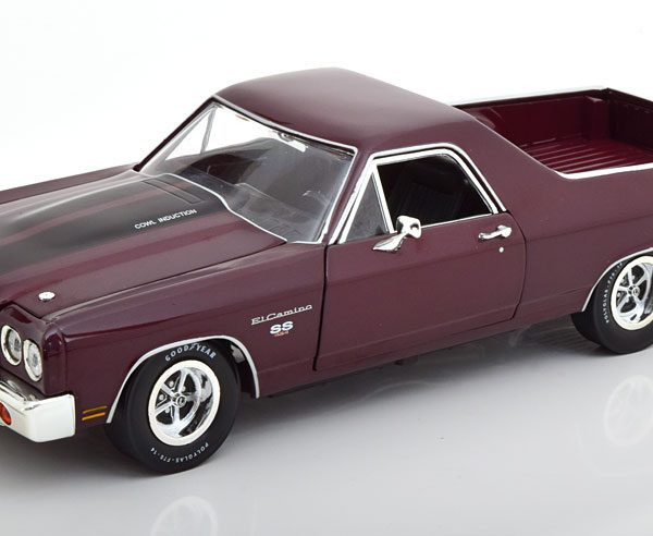 Chevrolet El Camino 1970 Donkerrood Metallic 1-18 Ertl Autoworld Limited 1002 Pieces