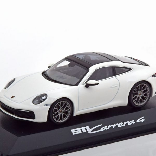 Porsche 911 Carrera 4 ( 992 ) Coupe 2019 Wit 1-43 Minichamps ( Dealer )