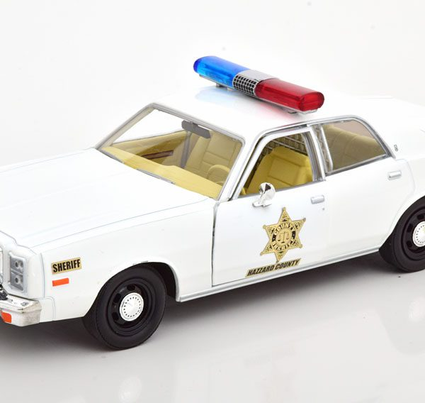 "Plymouth Fury 1977 ""Dukes of Hazzard"" Beige 1-24 Greenlight Collectibles"
