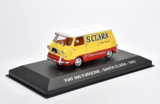 "Fiat 600 Multipla Transporter ""Santa Clara"" 1962 Geel / Rood / Wit 1:43 Altaya"