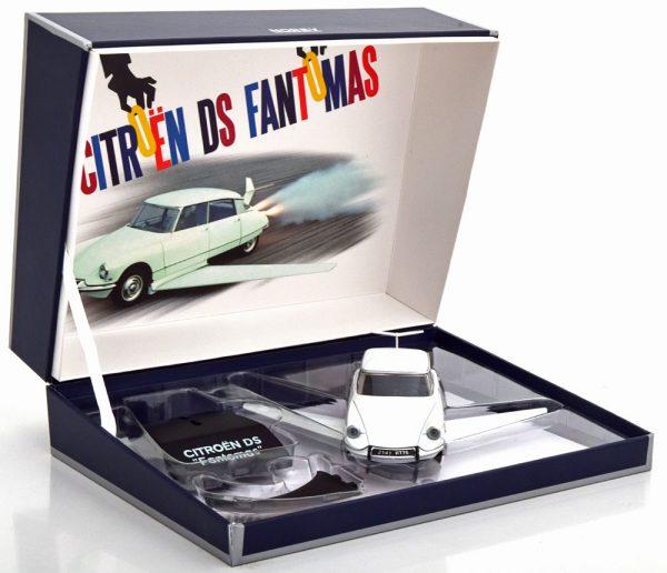 "Citroen DS ""Fantomas"" Wit 1-43 Norev ( Giftbox )"