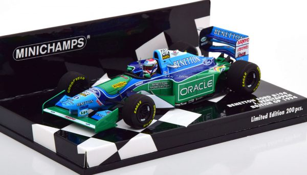 Benetton Ford B194 GP England 1994 Jos Verstappen 1-43 Minichamps Limited 200 Pieces ( Resin )