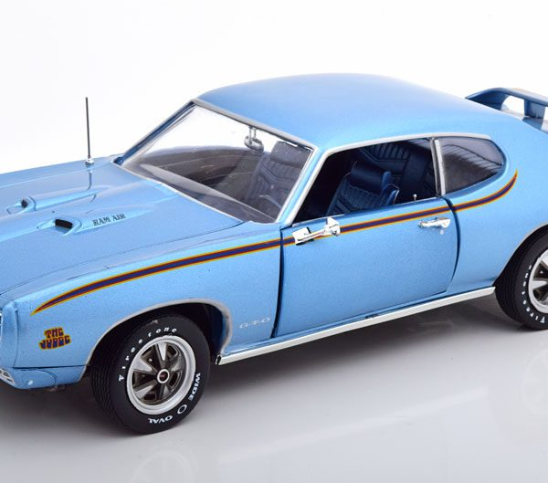Pontiac GTO Judge 1969 Blauw Metallic 1-18 Ertl Autoworld Limited 1002 Pieces