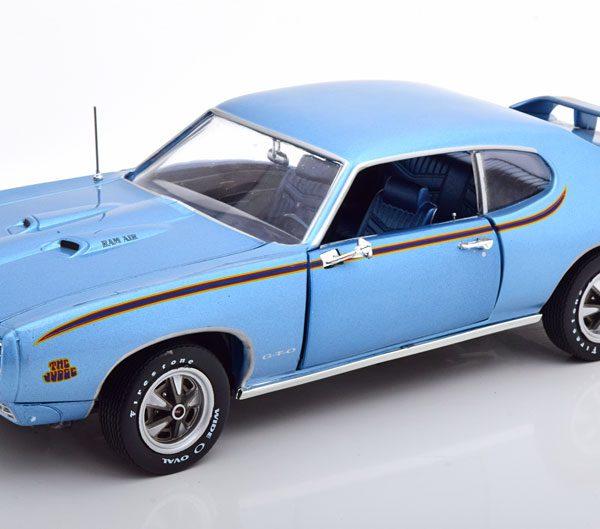 Pontiac GTO Judge 1969 Blauw Metallic 1-18 Ertl Autoworld Limited 1002 Pieces