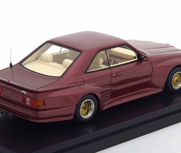 Mercedes-Benz 500 SEC Koenig Specials Coupe 1985 Rood Metallic 1-43 Neo Scale Models ( Resin )