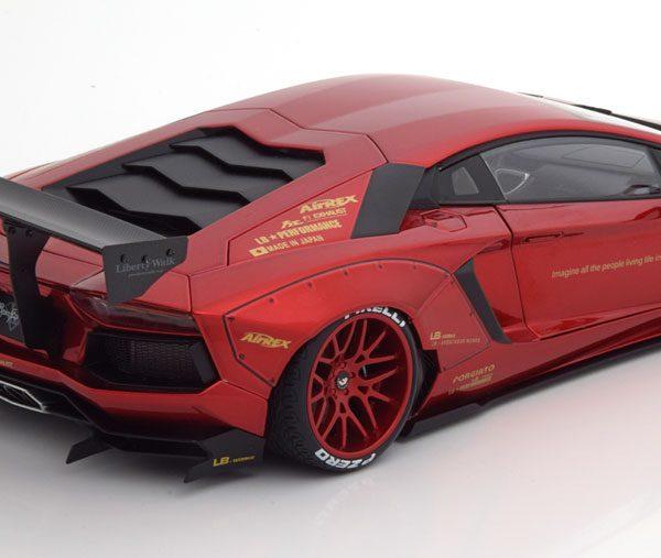 Lamborghini Aventador LB-Works 2015 Rood Metallic 1-18 Autoart