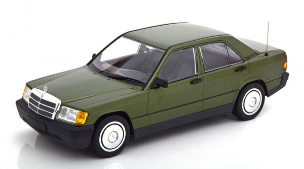 Mercedes-Benz 190E ( W201 ) 1982 Groen Metallic 1-18 Minichamps Limited 504 Pieces