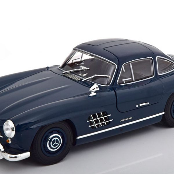 Mercedes-Benz 300 SL (W198) 1955 Donkerblauw 1-18 Minichamps Limited 300 Pieces