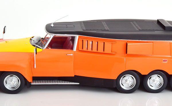 Citroen DS PLR Michelin Testcar Mille Pattes 1972 Oranje / Geel / Zwart 1-18 CMR Models ( Metaal )